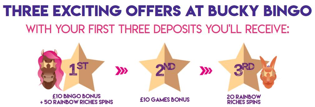Bucky Bingo: Three Exciting Offers