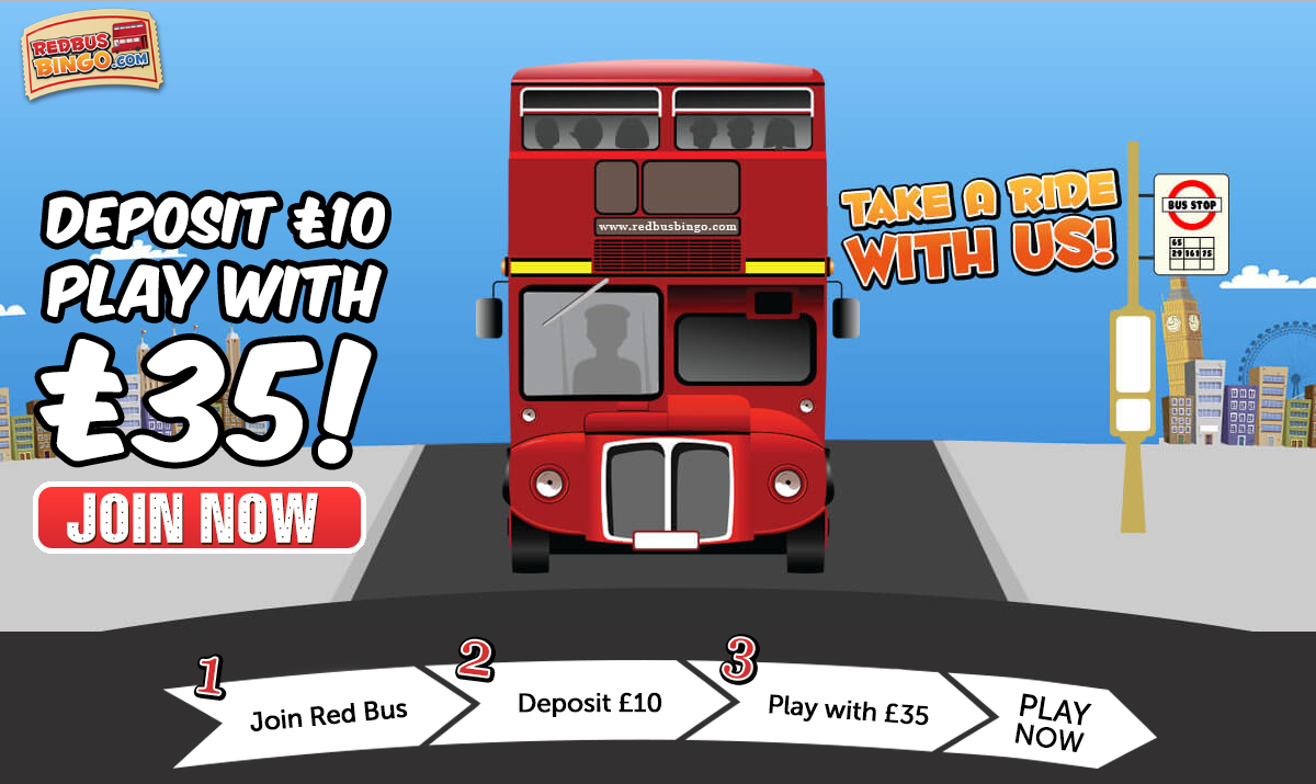 Red Bus Bingo Deposit £10 Play With £35